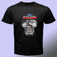 Powerstroke Engine Ford Raptor Black  t shirt Honda Yamaha VW Duramax