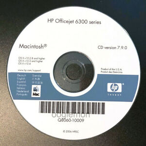 Mac ONLY! Setup CD ROM for HP OfficeJet 6300 Series Software 6310 6313 6315 6318