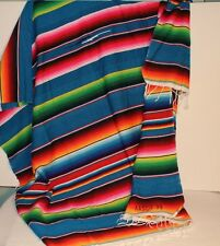 Mexican Serape Blanket - Multi color Vibrat colors falsa classic XLARGE - 56x84