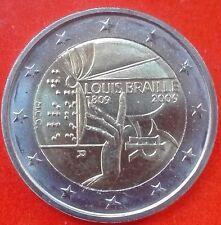 *ITALIA 2009 - 2 EURO COMM. 200º ANNIV.NASCITA DI LOUIS BRAILLE    LEGGI OFFERTA