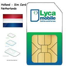 Lycamobile NL Prepaid Sim Karte Niederlande Netherlands Holland 4G KPN Netz Card