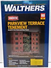 HO Scale Walthers Cornerstone 933-3177 Parkview Terrace Background Building Kit