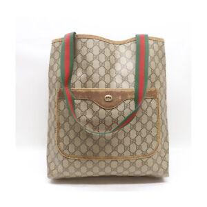 Gucci Tote Bag  Beiges PVC 1217297