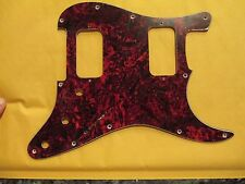 MIGHTY MITE GUITAR PICKGUARD in FAUX TORTOISE SHELL   FITS FENDER 2 HUM STRAT