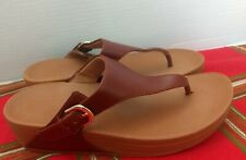 FitFlop Brown Buckle Thong Sandals Womens Size 7 The Skinny Deluxe
