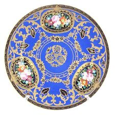 Noritake Moriage Gold Décor on Cobalt Blue Backdrop Made In Japan Plate L200