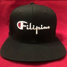 Filipino Champion Hat Philippines Pinoy Pinay Supreme Snapback Black