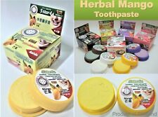 NewThai Mango Herbal Whitening Toothpaste Natural.Anti Bacteria,Plaque,BadBreath