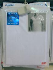 UNIQLO Men AIRism SEAMLESS V NECK SHORT SLEEVE T-SHIRT S M L XL Colors 182507