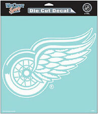 "Detroit Red Wings 8""x8"" White Auto Decal [NEW] NHL Car Emblem Sticker CDG"