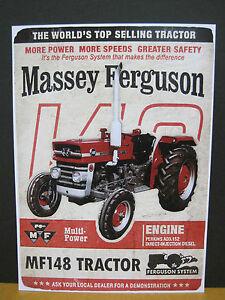 Massey Ferguson Multi-Power Tractor MF148 Metal Repro Sign (VM051)