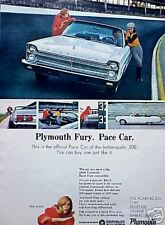 1965 65 Plymouth Fury Indy Pace Car ORIGINAL Vintage Ad