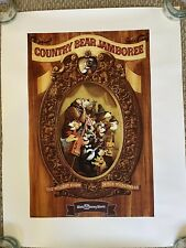 Walt Disney World Magic Kingdom Country Bear Jamboree Attraction Poster