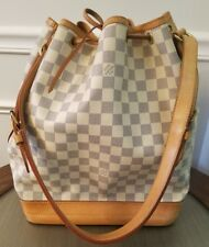 LOUIS VUITTON Damier Azur Large Noe Shoulder Bag LV AR3007 pre-owned GUC