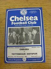 21/09/1963 Chelsea v Tottenham Hotspur  (Light Crease/Fold). Unless stated previ