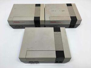 Lot of 3 Nintendo NES Consoles Parts/Repair
