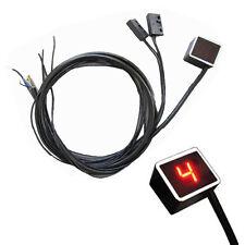 Gear LED Digital Indicator Motorcycle Bike Display Shift Lever Sensor Red Light