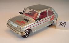 Majorette 1/55 Nr. 257 Renault 5 Limousine silbermetallic Nr.1 #309