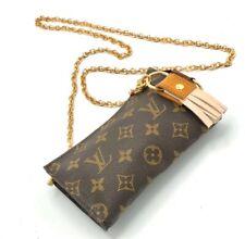 Louis Vuitton Crossbody Pouch Clutch Bag. Generic Gold Chain.Restored. US Seller