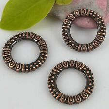 12PCS antiqued copper color 17mm crafted ring frame design  charms H0779