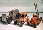 Antique Lot of Three 1930's tin toy car BUGATTI JEP France Ladder Car