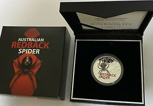 2021 Australian Redback Spider $5 Coloured Silver Proof Coin - SOLD OUT