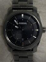 Fossil Fs4774 Machine Men's Stainless Steel Analog Black Dial Quartz Watch Aa305