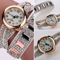 Jewelry Ladies Women Crystal Alloy Analog Quartz Bracelet Bangle Wrist Watch Ban