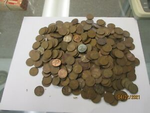 LOT OF 400 + LINCOLN WHEAT PENNIES CENTS UNSEARCHED LOOK!!