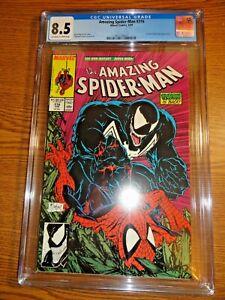 Amazing Spider-man #316 Todd McFarlane Venom Cover Key CGC 8.5 VF+ 1st Pr Marvel