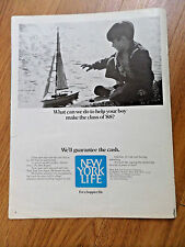 1970 New York Life Insurance Ad What can we do Help your Boy Make Class of 1988?