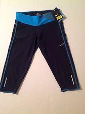 NWT XS Nike Women's Capri Crop Leggings In Dark Blue