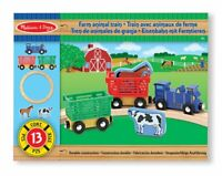 Melissa and Doug Farm Animal Wooden Train Set  - Brand New - 10644