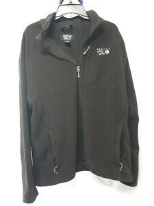 Mountain Hardwear Fleece Jacket Size XL Black Full Zip pocket zip