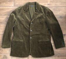 Polo Ralph Lauren Vintage Corduroy Brown-Green Blazer Coat Jacket Men's XXL TT