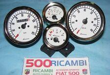 FIAT 500 F/L/R 126 KIT 4 STRUMENTI VEGLIA GIANNINI BIANCHI X CRUSCOTTO SPORTIVO