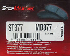 BRAND NEW STOP MASTER BRAKE PADS MD377 / D377 FITS VEHICLES LISTED ON CHART