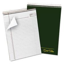 Ampad Gold Fibre Wirebound Writing Pad w/Cover 8 1/2 x 11 3/4 White Green Cover