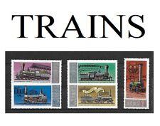 Série de 5 Timbres RUSSES**       Thème: LES TRAINS