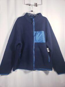 Goodthreads Men's Sherpa Fleece Fullzip Jacket, Navy XXX-Large