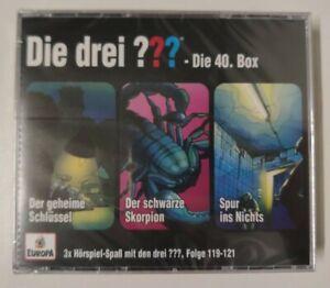 DIE DREI ??? FRAGEZEICHEN = BOX 40 = 3 FOLGEN 119 120 121 CDs NEU in Folie