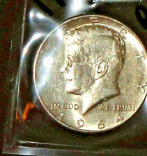 "1964-D JFK 90% SILVER HALF DOLLAR … GRADES ""EXTREMELY FINE"""