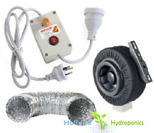"""4"""" INLINE CENTRIFUGAL EXHAUST DUCT FAN BLOWER DUCTING Fan Speed Controller Kits"""