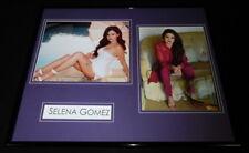 Selena Gomez Signed Framed 16x20 Heels Poolside Photo Set