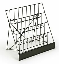 Four 4 Tier Wire Rack Display Magazine Stand with 2-1/2D Pockets CD Set of 2