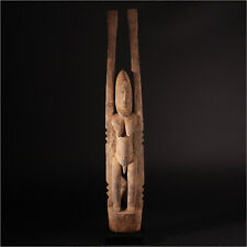 11629 Figure One Dogon Ancestor With Raised Arms 71cm With Wooden Base