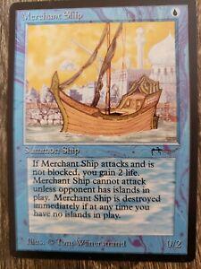 Magic the Gathering Arabian Nights NM/NP Merchant Ship Blue