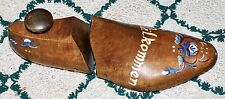 Handsome Wooden Shoe Strecher Hand Paint With Swedish Välkommen Greeting