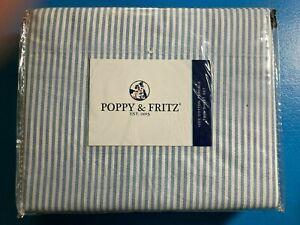 Poppy & Fritz Oxford Stripe 10Cotton Percale Sheet Set - Size: Twin