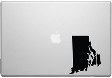 """Rhode Island Ocean State Pride Decal Sticker - Black 5"""" Vinyl Decal for Cars, Ma"""
